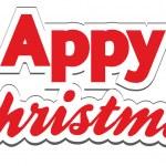 Постер, плакат: Christmas App Lettering Appy Christmas