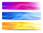 A modern set of vector banners with abstract background — Stock Vector