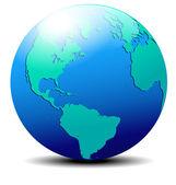 Kuzey, güney amerika, avrupa, afrika küresel dünya uzayda — Stok Vektör