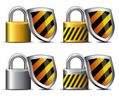 Houden je veilig - vrijwaringsmaatregelen uw transactie beschermen — Stockvector