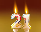 21st Birthday - Candles — Stock Photo