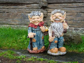 Small male and female gnomes — Stock Photo