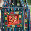 Handbag with traditional ornamentation — Stock Photo