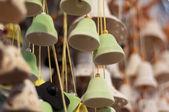 Many nice green handbells — Stock Photo
