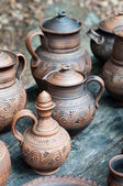 Clayware pitchers — Stock Photo