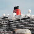The upper part of the ocean liner — Stock Photo