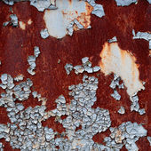 Grunge texture of the old cracked paint with rust on metal backg — Stock Photo