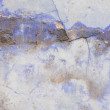 Texture or background wall of shabby paint and plaster cracks — Foto Stock