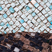 Colorful mosaic of different stones — Foto Stock