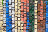 Colorful mosaic of different stones — Zdjęcie stockowe