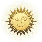 этнические, смеясь солнца. — Cтоковый вектор
