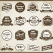 Collection of Premium Quality and Guarantee Labels with retro vi — Stock Photo
