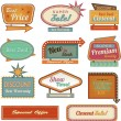 Retro banner sign/ad collection - Stock Photo