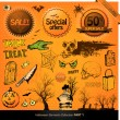 Halloween elements - Stock Photo