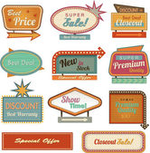 Retro banner sign/ad collection — Stockfoto