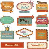 Retro banner znamení / ad kolekce — Stock fotografie