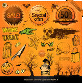 Halloween elements — Stockfoto