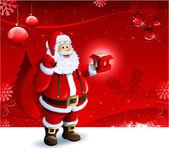 圣诞老人背景 — 图库照片