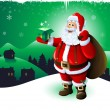 Santa Claus Christmas card — Stock Photo #13617001