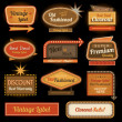 Vintage retro label signs — Stock Photo