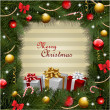 Christmas background with gifts and christmas tree - Foto Stock