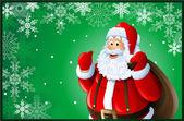 圣诞老人圣诞贺卡 — 图库照片