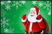 Santa Claus Christmas card — Stock Photo