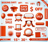Sale tags collection — Stock Photo