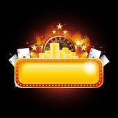 Casino banner sign — Stock Vector