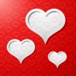 Valentines day card concept background — Vector de stock #16087861