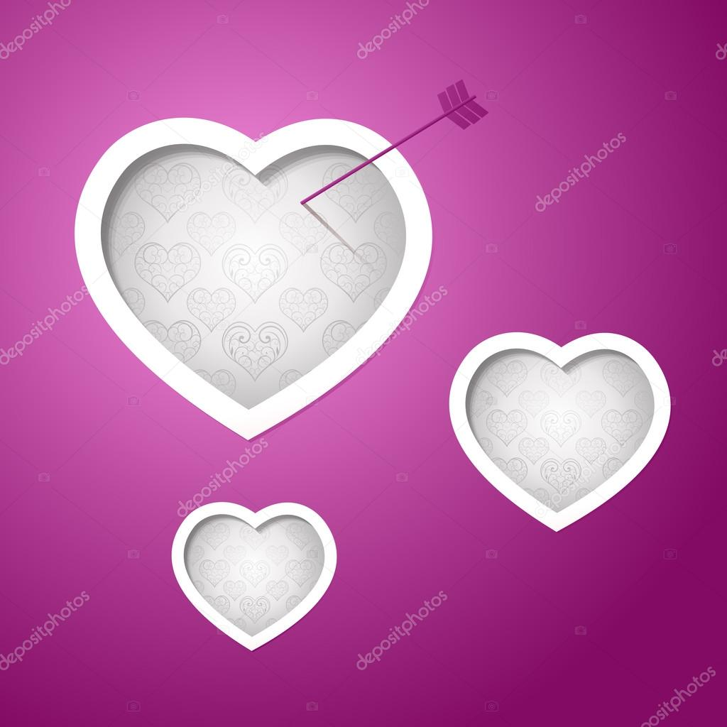 Valentines day card design background eps 10 — Stock Vector #16691897
