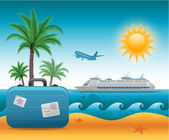 Summer beach vacation background — Stock Vector