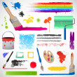 Royalty-Free Stock Photo: Painting and paint splats elements