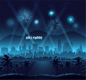 Hollywood movie premiere background celebration — Stock Vector