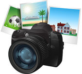 Photo camera illustration — Stock Vector