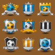 Soccer team emblems - Stock Vector