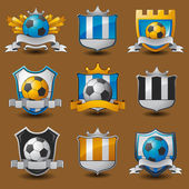 Soccer team emblems — Stock Vector