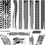 set di pneumatici tracce — Vettoriale Stock