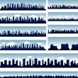 Vector city skylines - Grafika wektorowa