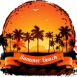 Summer holidays tropical sunset background — Stock Vector #25103037
