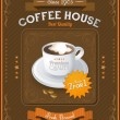 Vintage Coffee House card — Stock Vector #27714561