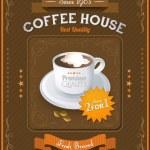 Vintage Coffee House card — Stock Vector