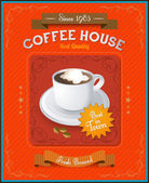 Vintage Coffee House card — Stock Vector
