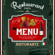 Stock Vector: Vintage italirestaurant menu and poster design