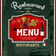 Vintage italian restaurant menu and poster design — Stock Vector
