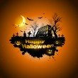 Multiple orange Halloween banners and backgrounds — Stock Vector #30881565