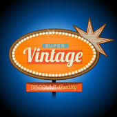Retro vintage motel banner sign — Stock Vector