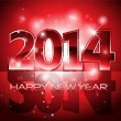 Vector Happy New Year 2014 colorful background — Stock Vector