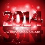 mutlu yeni yıl 2014 renkli arka plan vektör — Stok Vektör