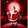 Santa Claus background Christmas greeting card — Stock Vector